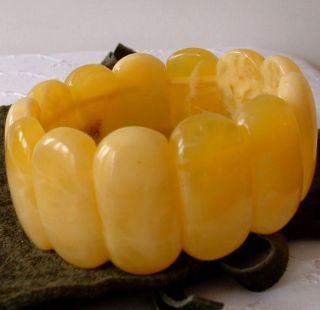 Art - Déko,  Real Amber,  Butterscotch - Bernstein - Armband - Bracelet - 39,  9gr.  Brt.  3,  2cm Bild