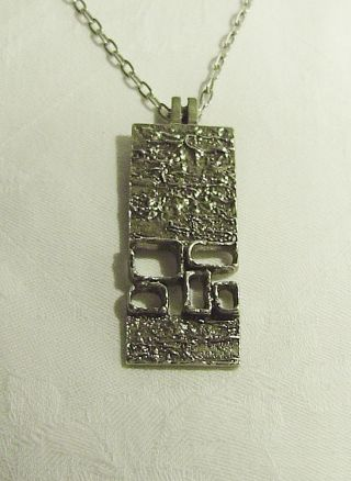 Massiver,  Auffälliger Art Deco - AnhÄnger,  835er Silber / Echter Antikschmuck Bild