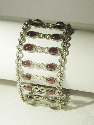 Ausgefallenes Amethyst - Armband,  925er Silber / Antikschmuck/ Art Deco / Top Bild