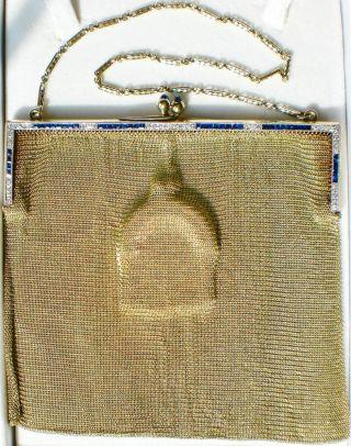 Echte Gold - Tasche,  43 Brillanten,  40 Saphire Top - Bild