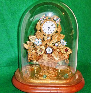 BlumenkÖrbchen - Uhr,  S.  Weltkunst,  Völlig Intakt 19.  Jh. ,  S.  Beschrbg. Bild