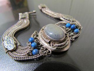 Jugendstil,  Chariwari,  Silberschmuck,  Armschmuck,  Echte Silber 800 Antik Bild