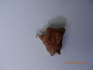 Niedlicher Anhänger Fisch Stein ? Sternzeichen Bettelarmband Bild