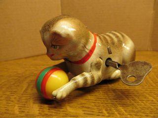 Alte Katze Mit Ball,  I.  O.  Köhler. . . .  Echt Bilder Bild