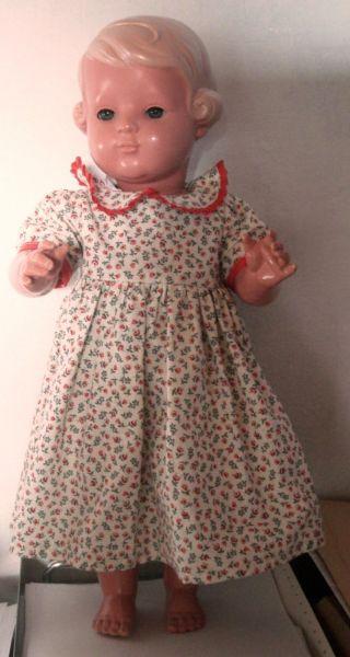 Alte Schildkröt Puppe Inge 49 Cm Von 1940 Mit Schlafaugen Und Wimpern Bild
