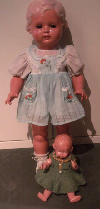 Schildkröt Puppe Erika 56 Cm Celluloid,  Kleid 1952 Bild
