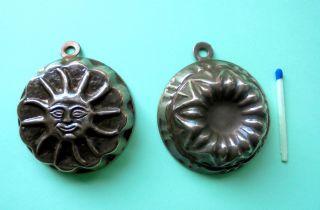 Kupfer Backformen,  Zwei Stück,  Sehr Gut Erhalten Bild