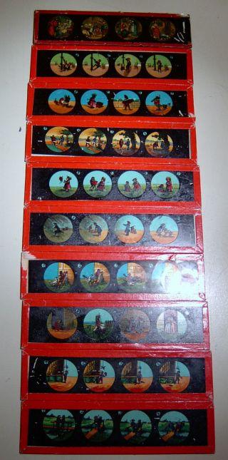 10 Laterna Magica Glasbilder Um 1900 15 X 3,  8 Cm Bild