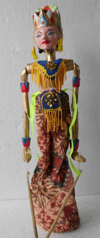 1 Holzpuppe Wayang Golek Puppe Marionette Neuzeitl.  Repro/nostalgieware Nmsg02 Bild