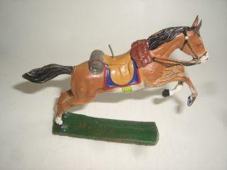 1351/ Hausser Elastolin Western Pferd Für Cowboy Von Ca1935 Bild