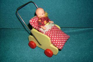 Sport - Puppenwagen Für Puppenstube Holz Bild