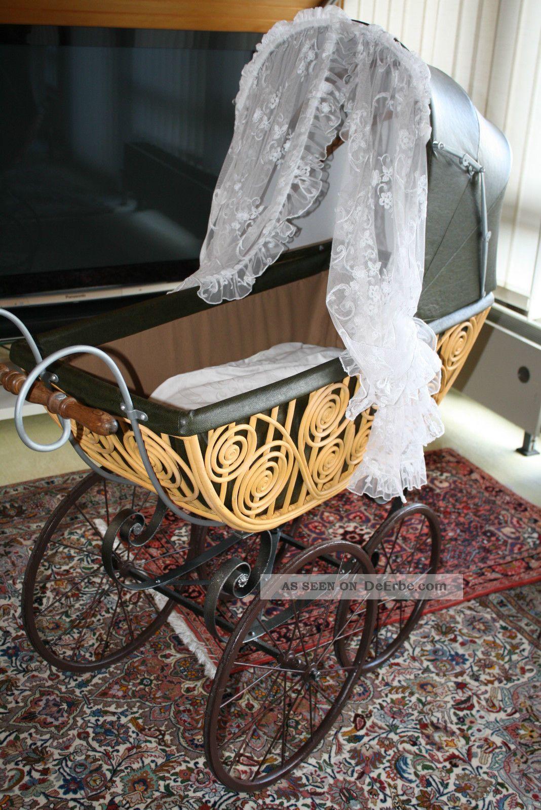 Wunderschöner Kinderwagen Von 1890 Komplett Restauriert Puppenwagen Bild