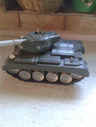 Alter Spielzeugpanzer Blechspielzeug Gama Panzer Blech,  Plastik M48.  24 Cm Bild