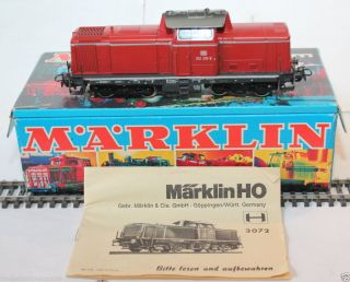 Brillante Märklin 3072 Diesellok Br 212 215 - 8,  Karton Aus 01/74,  800,  Neuwertig Bild
