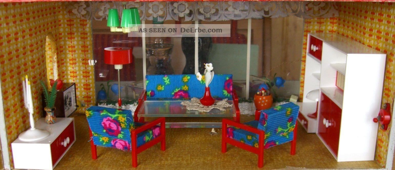 puppenstubenm bel m bel f r die puppenstube wohnzimmerm bel vero rot. Black Bedroom Furniture Sets. Home Design Ideas