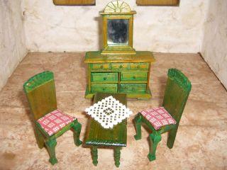 Puppenstubenmöbel - Wohnzimmermöbel - Neuzeitliche Reproduktion Bild