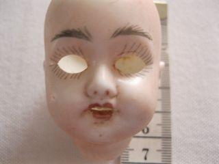 Alter Puppenkopf Bisquit - Porzellan Signiert A.  C.  M.  1904 Austria Handbemalt Bild