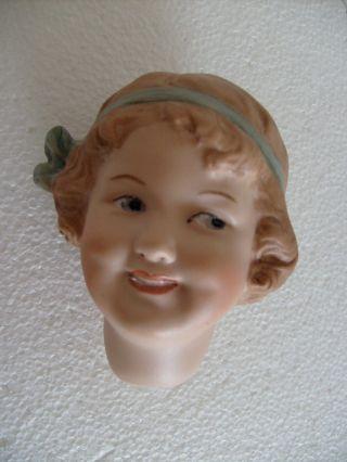 Heubach Porzellan Kopf Coquette,  Handbemalt,  Antik Repro Bild