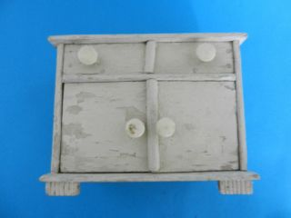 Puppenstuben Möbel Spültisch Antik Puppenstube Puppe Schrank Tisch Bild