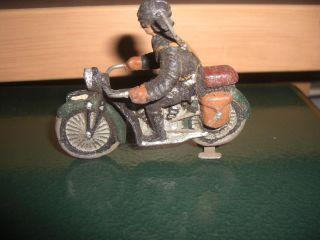 Motorrad Lineol Elastolin Hausser Länge 7,  5 Cm Bespielter Orginalzustand Bild