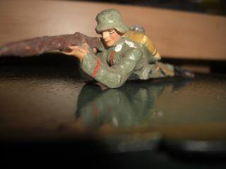 Soldat Liegend Und Schießend Mit Gewehr Orginal Lineol Bild
