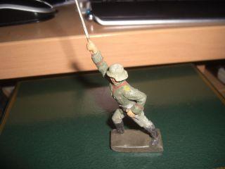 Lineol - Soldat Mit Säbel Zum Angriff Gehend Orginalzustand Bild