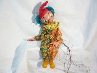 Alte Pelham Puppets Marionette Glieder Puppe Clown Bild