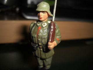Lineol Soldat Denke Vor 1935 Top Orginal Unrestauriert 9cm Bild