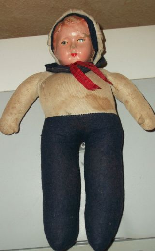 Alte Matrosenpuppe,  Puppe,  Alter Unbekannt,  Vermutlich 1930er Jahre Oder älter Bild