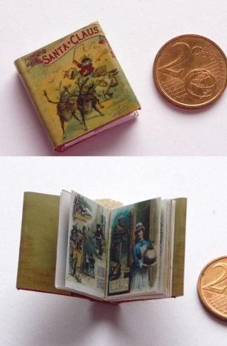 Winziges Miniatur Buch Around The World With Santa Claus F.  Puppenstube Bild