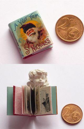 Winziges Miniatur Buch A Visit From St.  Nicholas Für Puppenstube Bild