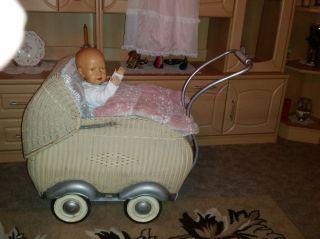 Wunderschöner Alter Puppenwagen M.  Uraltem Sk - Baby Bild