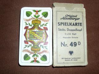 Altenburger Spielkarten - Sächs.  Doppelkopf - Nr.  49 D Bild