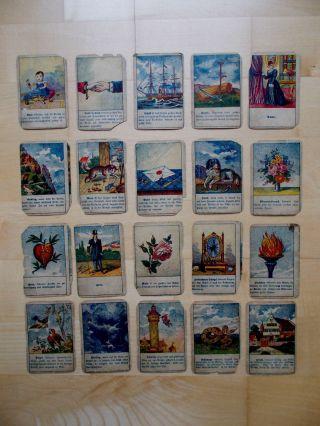 20 Nostalg.  Karten Zum Kartenlegen Vorhersagen Zeitvertreib Zukunft Deuten Spiel Bild