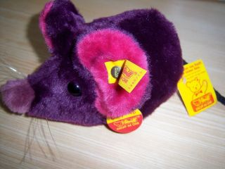 Steiff Cosy Fiep 1981 - 1985 Purple 5390/15 Mit Allen Drei Schildern Bild