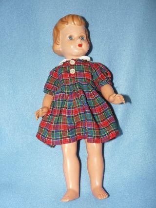 Puppenmädchen Der Firma Storch 42 Cm - 50er Jahre Bild