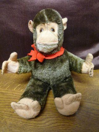 Süßes Affenbaby Mit Druckstimme Im Bauch 21cm,  Alt - Dachbodenfund Bild