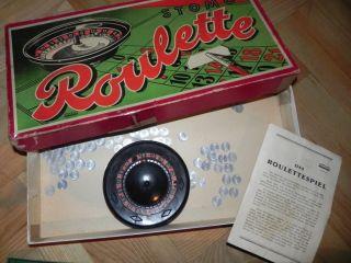 Rar Altes Gesellschaftspiel Antikesspiel Roulette Spiel Von Stomo Bild