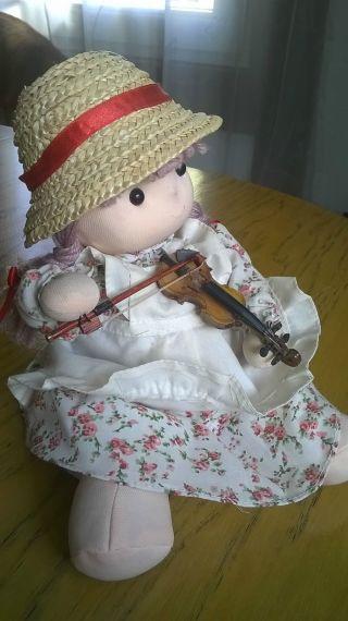Puppe Mechanisch Die Geige Spielt Aus Stoff Bild
