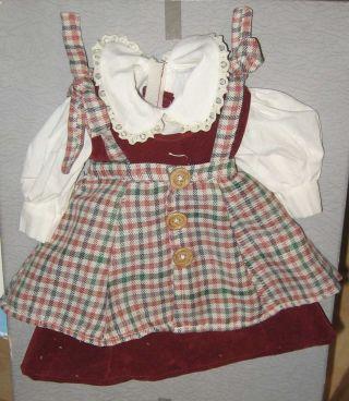 Puppenkleid Länge 24 Cm Porzellankopfpuppe Porzellanpuppe Stehpuppe Püppchen Bild