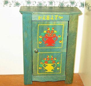 Möbel Puppenstube Puppenmöbel Alter Holz Schrank Bauernmöbel Puppenhaus Bild