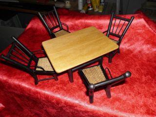 Sehr Schöne Puppenmöbel Sitzgarnitur - Handarbeit - Im Thonet - Stil Uralt Bild