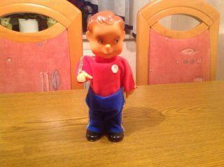 Mechn.  Aufzieh Figur Puppe Junge Ddr Alt Bild