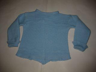 Jäckchen Hemdchen Hellblau Puppenkleidung 50er Jahre Puppenzubehör Bild