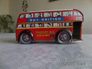 Doppeldecker Buss Aus Blech. Bild