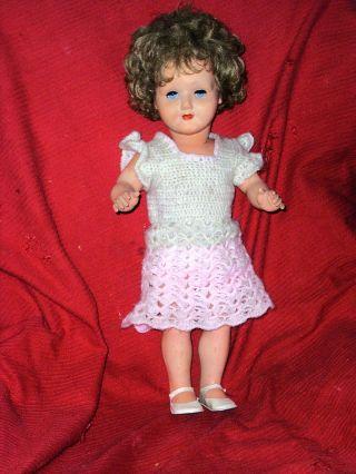 Grosse Drei M Puppe Ende 1950 Festes Celluloid. Bild