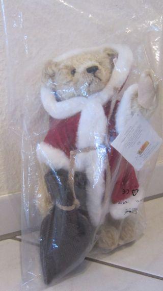 Steiff Nikolausbär Limitiert (nr.  2960) In Orig.  Verschl.  Kunststoffverpackung Bild