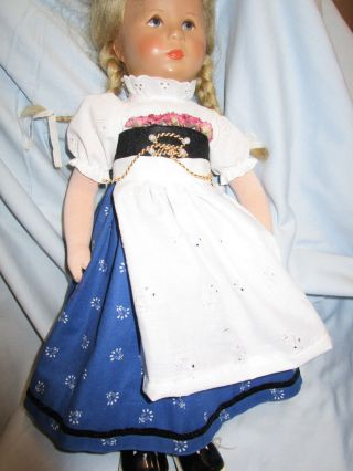 Festliche Bayerische Tracht - Rock - Bluse - Schürze - Blumen Paß Kk - Puppe 47,  52 Cm Bild