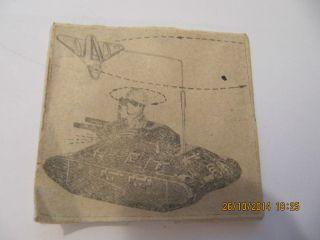 1druckplatte,  Militär,  Seltener Panzer 1945 - 1970 Für Spielzeugkatalog - Bild