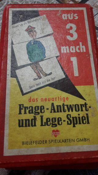 Aus 3 Mach 1 Antikes Kartenspiel Bielefelder Spielkarten Ansehen Dachbodenfund Bild